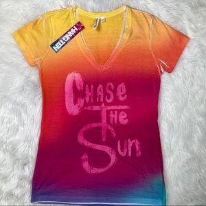 Hang Ten Chase The Sun V-Neck T Shirt
